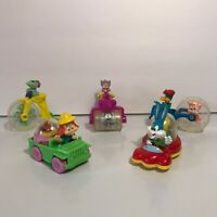 Vintage 1992 Lot of 5 McDonalds Happy Meal Looney TINY TOONS Wacky Rollers Toys