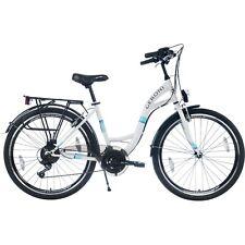 Bici 26 Olanda Geroni City Comfort Cambio 21V Bianco Bicicletta Passeggio luci