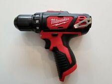 "MILWAUKEE 2407-20 M12 12V 12 Volt LED Cordless Lithium-Ion 3/8"" Drill Driver New"