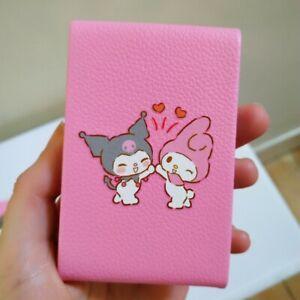 Kuromi MyMelody Cigarette Case pink Silver Card Holder Leather y2k metal kawaii