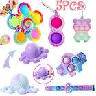 5 Pack Popet Bubble Fidget Toys Set Autism Stress Relief Simple Dimple Gift Game