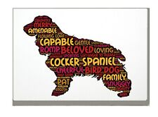 More details for cocker spaniel art print word art a4 a3 mothers day gift personalised option