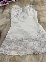 Vintage La Perla white Camisole Top sleepwear nightwear size it2 eu75 us34
