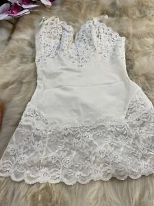 Vintage La Perla white Camisole Top sleepwear nightwear size it2 eu75 us34