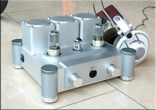 E200 pure class A Tube headphone amplifier silver/black