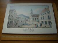 Druck Bad Wildbad historische Ansicht - Der Marktplatz von Wildbad
