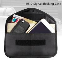 RFID Seguro Bloqueador de señal caso Llave del coche FOB Bolsa Jaula de Faraday