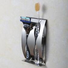 Toothbrush Shaver Holder Rustproof Polished Stainless Steel Sticky Walls