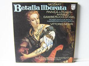 3 LP Box Mozart La Betulia Liberata SIGNED BY JEFFREY TATE (CEMBALO) ! AUTOGRAPH
