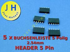 Stk.5x boccole barra/Header 5 poli 2.54mm Arduino costruzione/Style #a186