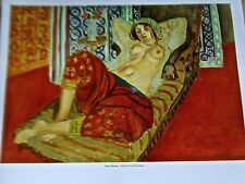 Henri Matisse Poster of  Odalisques in Red  Culottes Moroccan Nude Female 14x11
