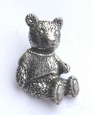 Teddy Bear Hand Made in Uk Pewter Lapel Pin Badge