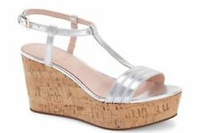 Kate Spade New York Tallin Wedge Sandals - NIB - AUTHENTIC - Size 10 B Silver