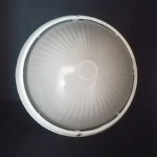 Außendeckenleuchte Blanco Redondo IP54 Aludruckguß Globe Lámpara Techo Exterior