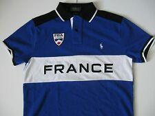 "POLO RALPH LAUREN Men's Custom-Fit Snow Polo ""France"" Mesh Shirt XXL"