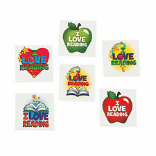 """I Love Reading"" Temporary Tattos teacher supplies giveaways - pack of 72"