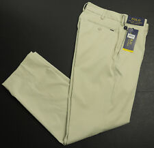 New Polo Ralph Lauren Performance Stretch Classic Fit Stone Pants 34 x 32