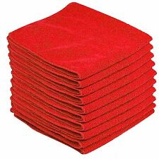 10 x LARGE MICROFIBRE CLEANING CAR DETAILING SOFT CLOTHS WASH TOWEL DUSTER RED