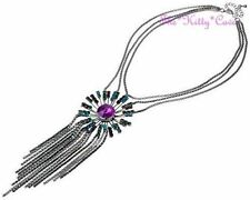 Collares y colgantes de bisutería de cristal de aleación de color principal negro
