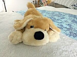 FAO Schwarz Soft Large Brown Tan Puppy Dog PATRICK Plush Kid Gift Stuffed Animal