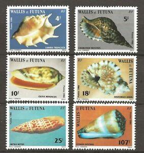 Wallis Futuna 1986 Fauna Wildlife Marinelife Fisch Fish Shell compl. set MNH