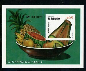 Salvador Scott #1462 MNH S/S Tropical Fruit CV$3+