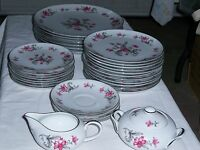 Vintage Prim Rose by Fine China of Japan Service for 6 Plus Bonus