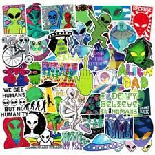 50Pcs ET UFO Cartoon Stickers Alien Stickers DIY Skateboard Laptop Car Decals