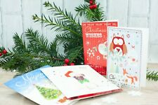 Twin Pack Of 10 Woodland Design Christmas Xmas Cards + Envelopes
