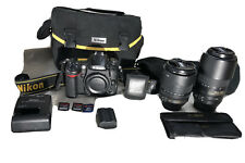 Nikon D7000 16.2MP Digital SLR Camera (w/ Filters, 18-105mm & 55-300mm Lenses)