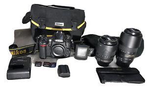 Nikon D7000 16.2MP Digital SLR Camera (w/ Filters, 18-105mm & 55-300mm Lenses)