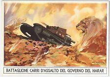 CARTOLINA d'Epoca - COLONIALE - Battaglione Carri d'assalto Harar - S. FERRARI