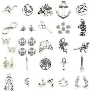 Tibetan Silver Charms Pendant Pentagram Baby Sea Fairy Shell Halloween Gothic