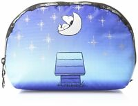 LeSportsac Peanuts Snoopy X Womens Medium Dome Cosmetic Case Bag - Twilight Moon