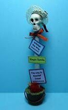 Dollhouse Miniature Halloween Skeleton Gal in Pail Decoration ~ SH466G