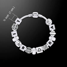 Libra Astrology Zodiac .925 Sterling Silver Bead Bracelet by Peter Stone