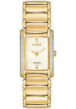 Gold Plated Case Quartz (Solar Powered) Analogue Watches