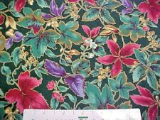 COUNTRYSIDE COLLECTION - PURPLE,MAUVE FLORAL-Gold Accents HOFFMAN  BTYd Fabric