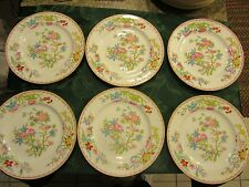 MInton Cuckoo Salad Plate  China lot of , Smooth, White, Wreath Mark #3934