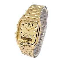 -Casio AQ230GA-9B Dual Time Watch Brand New & 100% Authentic