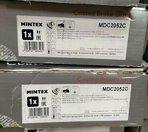 FRONT BRAKE DISCS x2 322mm COATED FITS MERCEDES C E CLASS SLK MINTEX MDC2052C