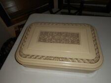 New listing Vntg Marshall White Bakelite Silverware Chest Box Storage Silverplate Flatware