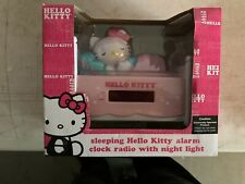 Sanrio Hello Kitty Radio With Night Light Alarm Clock