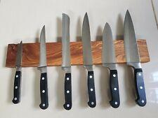Handmade Hardwood Rosewood Magnetic Knife Rack, Wall Mounted