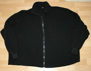 Mens Black Fleece Zip Up Jacket Coat Casual Sweatshirt Size 3XL XXXL