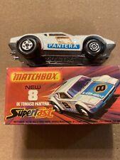 MATCHBOX SUPERFAST #8 DE TOMASO PANTERA, SCARCE RED INT., NEAR MINT, BOXED