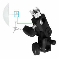 Clamp Holder for Photo Video Studio Light Flash Light and Umbrella Shoe Mount