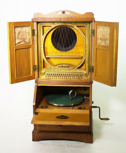 UNIQUE RARE  KLINGSOR PHONOGRAPH GRAMOPHONE. You can see and hear me play !