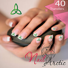 40 x Nail Art Water Transfers Stickers Wraps Decals Irish Knot Celtic