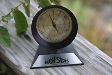 Vintage Nautical Thermometer Advertising High Seas Crackled Paint Finish